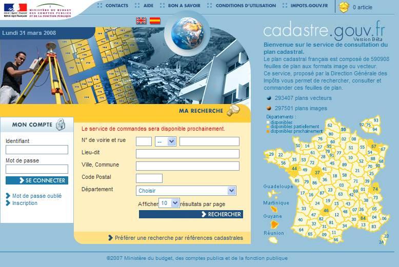 Site_cadastre