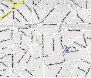 Plan d'implantation du projet rue du 14 Juillet