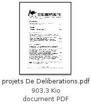ICONE - Conseil municipal du 07/05/2009 : Projets de délibérations