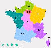 Répartition des sièges par circonscription