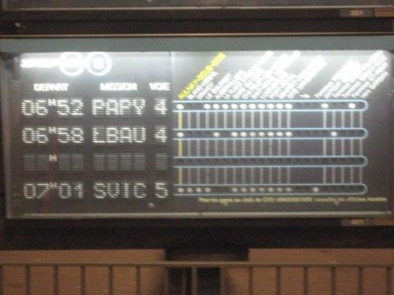 Quai 4 de la gare d'Aulnay, le 13 octobre 2009