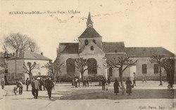 Place de l'église il y a environ cent ans