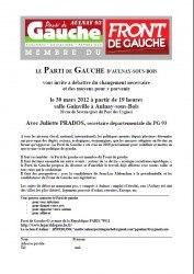 Débat Front de Gauche Aulnay-sous-Bois