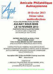 Affichette annonce salon 2013