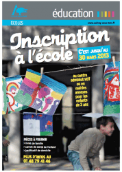 inscriptions ecole