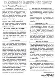 journal de greve n°6