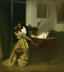 """La """"sonate à Kreutzer"""", huile de Prinet"""
