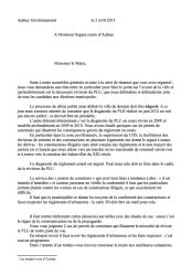 lettre aulnay environnement