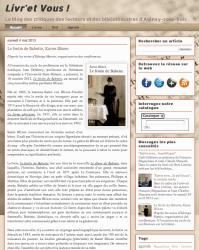 Capture d'écran blog livr'et vous