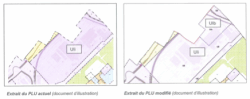 Illustration de la modification du PLU