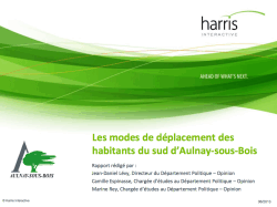 etude harris deplacements sud aulnay