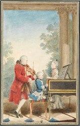 Mozart au piano, et en famille !