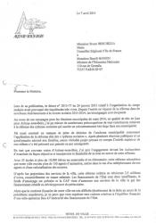 lettre au ministre de l'EN