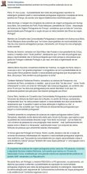 Statut Facebook de Carlos Gonçalves le 1er juin 2015