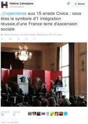 Tweet - Hélène Calméjane
