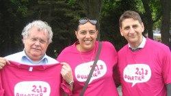 Mme Abdellaoui avec M. Segura et M. Goldberg en 2013 (Photo ACSA)
