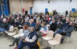 Aulnay-sous-Bois, lundi 8 mars 2016.Reunion des anti europa city