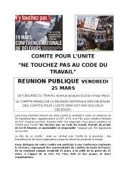 thumbnail of code du travail réunion comité pour l'unité 25 mars communiqué