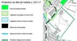 Les alignements des peupliers sont bien notés dans le plan de protection du patrimoine du PLU qui sont protégés au titre de l'article L123-1-7 comme indiqué dans ce plan