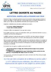 thumbnail of lettre ouverte monsieur le Maire
