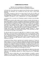 thumbnail of Communiqué de presse