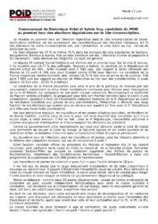 thumbnail of Communiqué 13 juin 2017 sur Aulnay et 10e circonscription