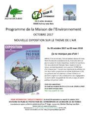 thumbnail of Programme de la Maison de l'Environnement octobre 2017
