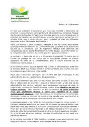 thumbnail of Réponse à l'invitation du 18 déc 2017