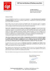 thumbnail of Jour de carence lettre ouverte de la CGT des territoriaux au Maire d'Aulnay-sous-Bois fevrier 2018