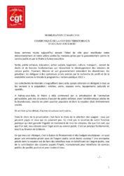 thumbnail of communiqué mobilisation 22 MARS 2018