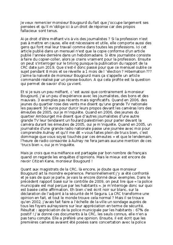 thumbnail of droit de reponse a monsieur Bougourd