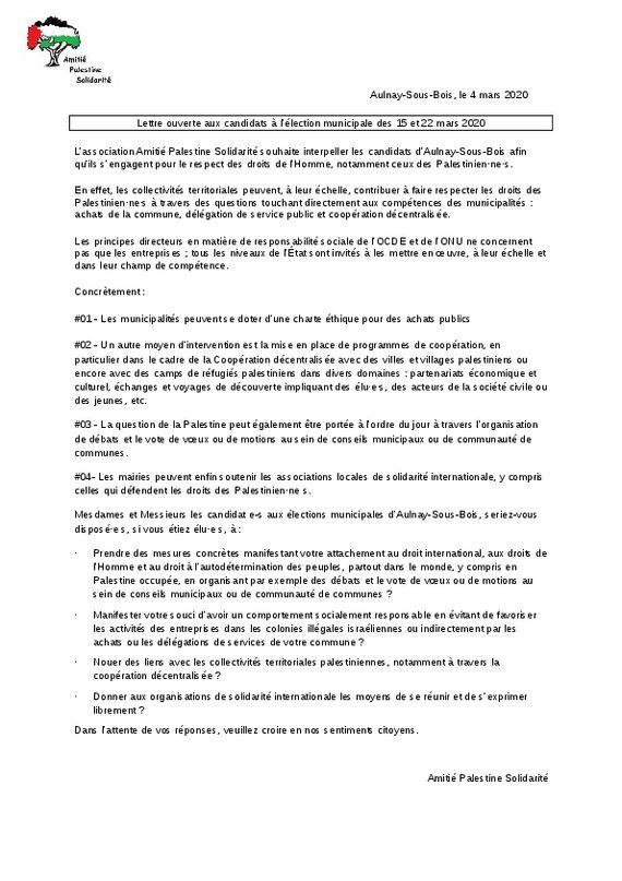 thumbnail of Lettre ouverte candidats municipales 2020