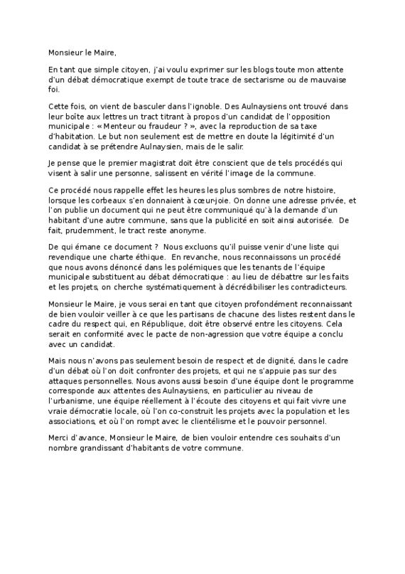 thumbnail of Lettree ouverte au Maire.PDF
