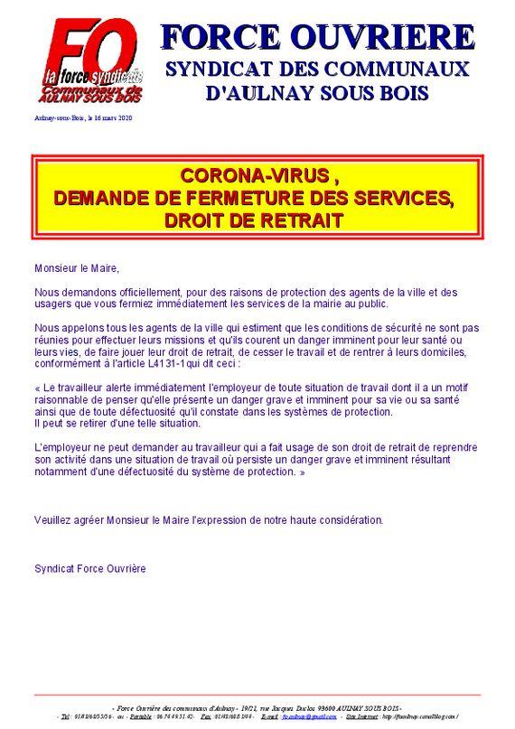 thumbnail of corona droit de retrait