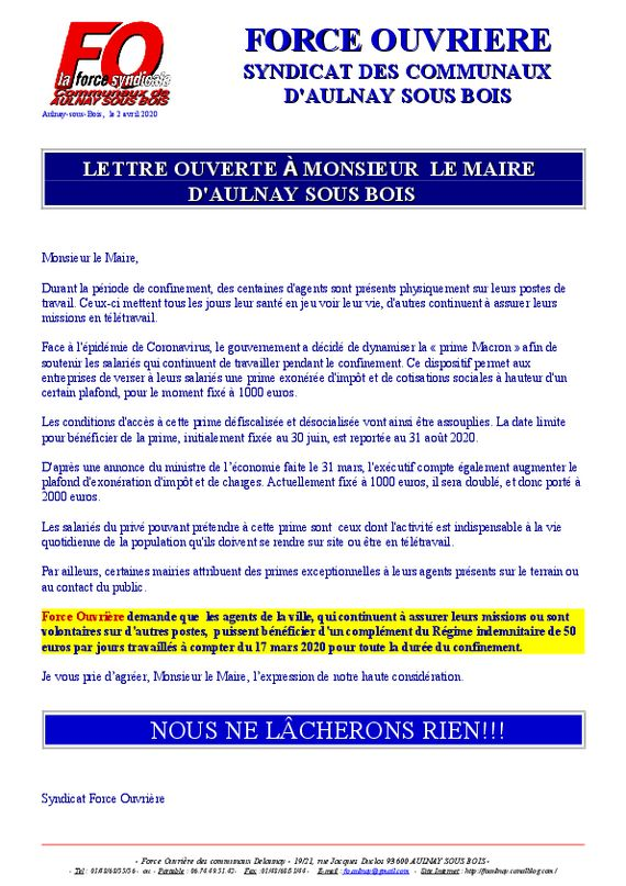 thumbnail of lettre ouverte demande de prime exeptionelle corona