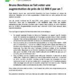 thumbnail of Communiqué Bruno Beschizza augmentation de près de 11 000€