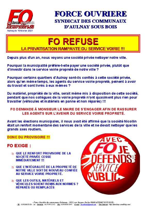 thumbnail of tract privatisation voirie