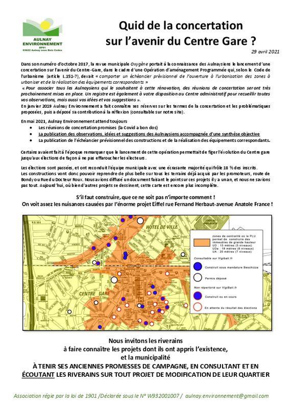 thumbnail of Quid de la concertation Centre Gare