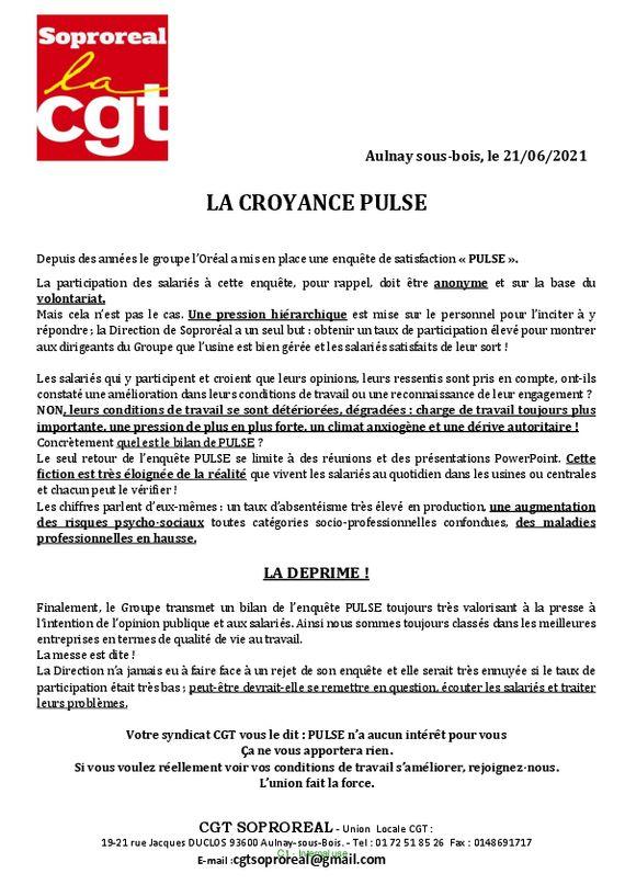 thumbnail of LA CROYANCE PULSE -3- -1- (1)