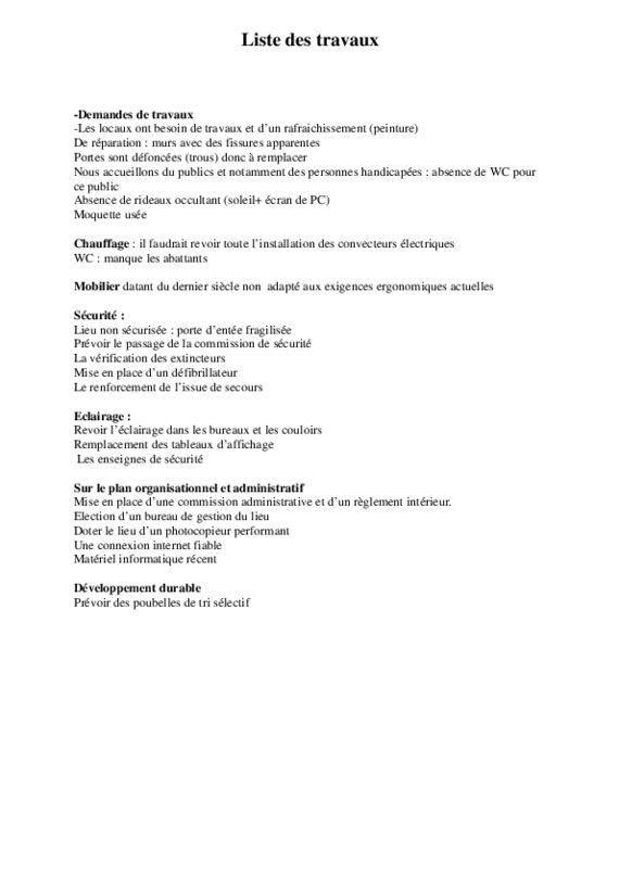 thumbnail of liste des travaux bourse du travail